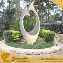 modern stone white marble abstract sculpture for garden decoration