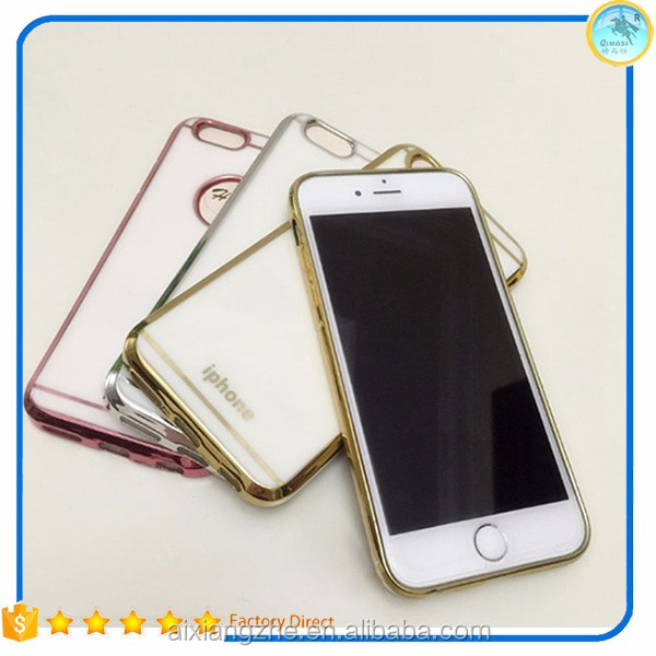 2017 ali original tpu plated case for iphone 4 5 5s 5se electroplating cover,chrome plating back cover for iphone 6 6plus 6 plus