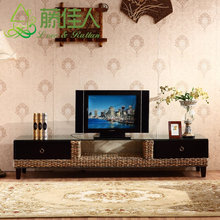 Tropical Rattan and Wooden TV stand