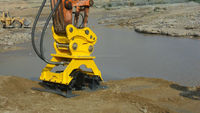 Excavator earth compactor hydraulic press compactor plate