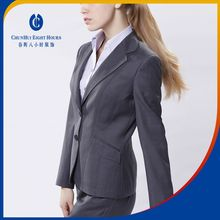 Supplying winter corporate ladies office staff wearing uniform suit style design for women
