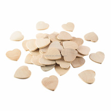 High quality Unfinished Wooden Heart Blank Wood Cutout Heart Slices Discs DIY