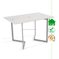 DT-2088 modern elegant high gloss wooden white functional table with folding top