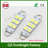 Rigid Loop 44mm 5050 6SMD LED Bulbs For Door Lights Trunk Area Lamp Dome Front Map Led Lights ,led car roof light