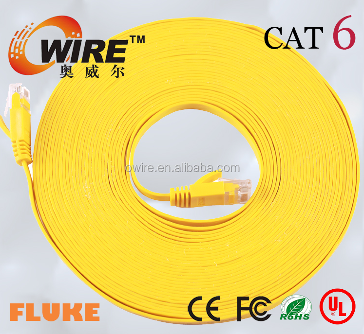 rj 45 cable cat5e/cat6 568b 568a 7X0.18mm stranded 24awg patch cord with 30inch gold plating connectors