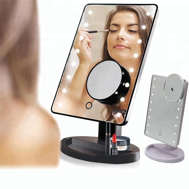 16 LEDs Table mirror with Suction cup 10 times magnifying mirror
