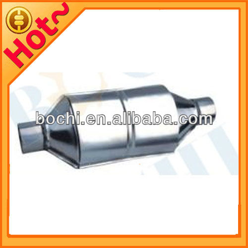 High quality Oval auto engine exhaust manifold metal three way catalytic converter