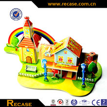 Paper Educational Kids Modern Rainbow House Toys