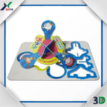 Premiums Spinning Top plastic shape Puzzle Cards/Moving 3D Puzzle/Round Shape Puzzle