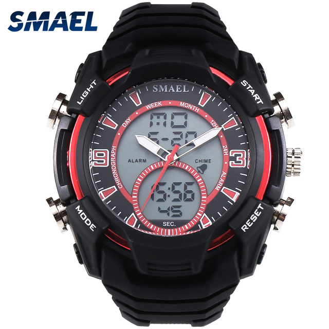 Custom Logo Clock Sports Military Watches, Dual Time Functions Wrist Watches