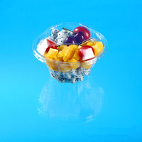 diamond shape plastic cup with lid for fruit salad packing