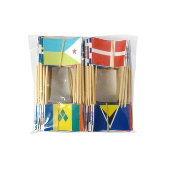 Texas bamboo wood template fruit fork food skewer small toothpick flags