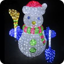 New design acrylic snowman led for christmas decor