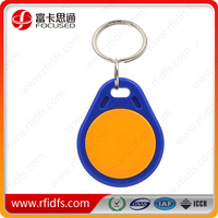 13.56mhz keyfob contactless abs rfid key fobs