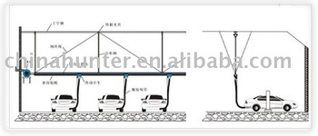 Installation sketch and service -- Exhaust extraction system- slide rail & hose reel