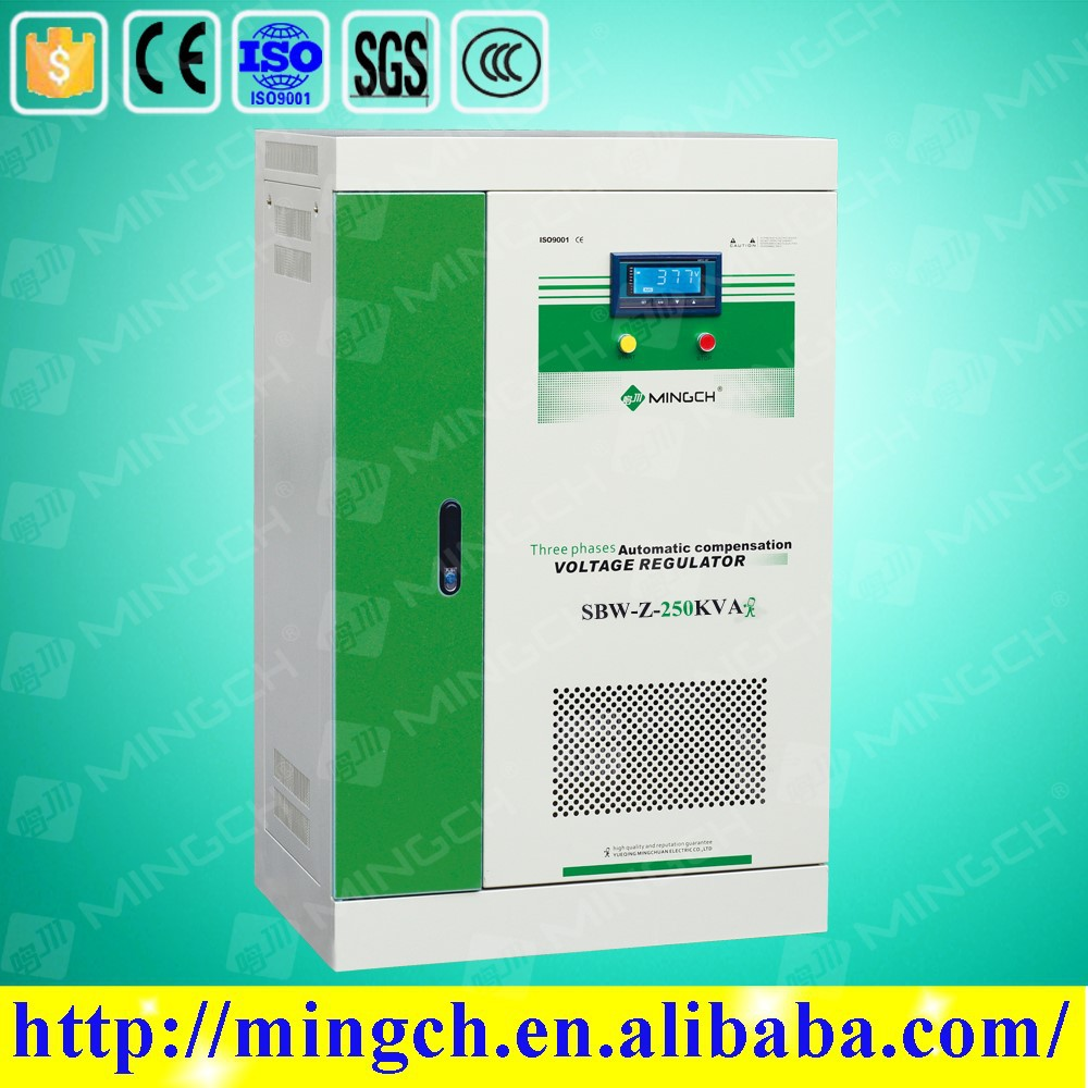 CE ROHS approved 250KVA automatic compensated three phase ac voltage optimizer