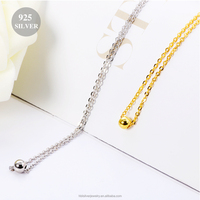 2016 latest design gold plated bead necklace , pure silver chain necklace for women