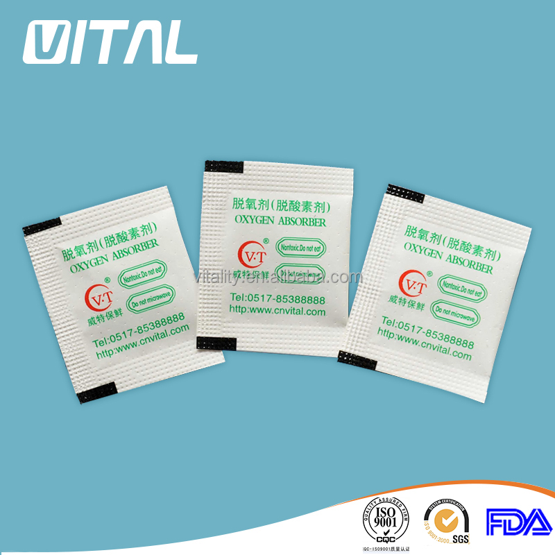 Food and Pharmaceutical packaging 300cc Oxygen absorbers
