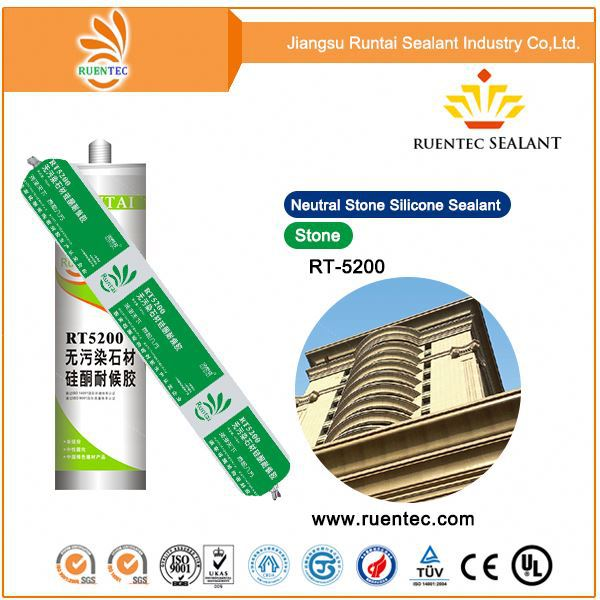 General purpose neutral no corrosive weatherproof silicone sealant