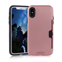 Moible Phone Case For iPhone X Back Cover With Card Pocket