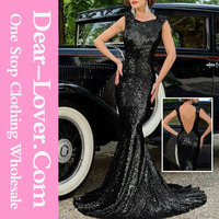 2016 see through Black Full Sequin Big Bow Accent mother of the bride dress
