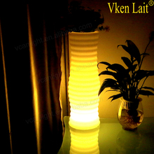 illuminated cordless tall gold vase for wedding decoration