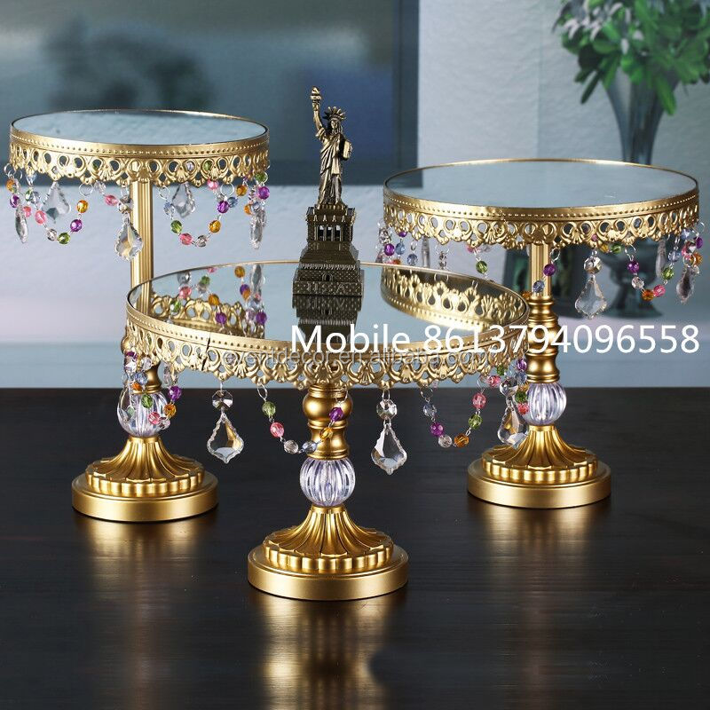 New products ! Gold wedding cake stand , metal stand for cake wholesale