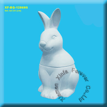 unpainted ceramic bisque bunny box