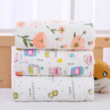 47*47 inches 6 layers cartoon super soft bamboo cotton baby bath <strong>towel</strong>