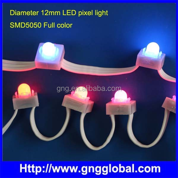 Led pixel light for advertising Waterproof rgb pixel 12mm WS2811 RGB LED Pixel