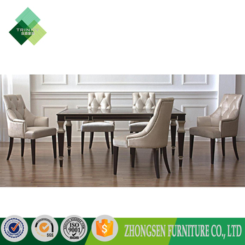 6 Seater Dinning Room Luxury Modern Marble Dining Table Set