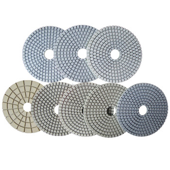 3 inch to 7 inch Diamond wet white Polishing pad for marble.