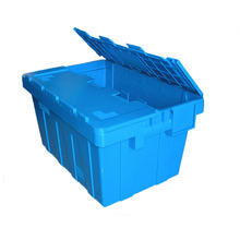 600*400mm plastic storage containers folding crate sale with lids