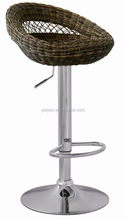 Hot!Hot! Cheap Rattan Swivel Outdoor Bar Stool High Chair