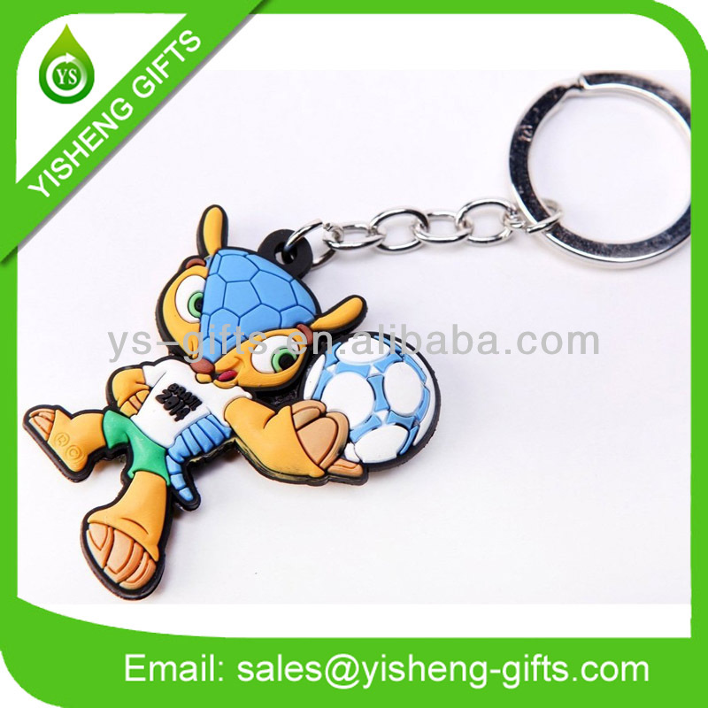 Brasil World Cup 3D Rubber Keychain