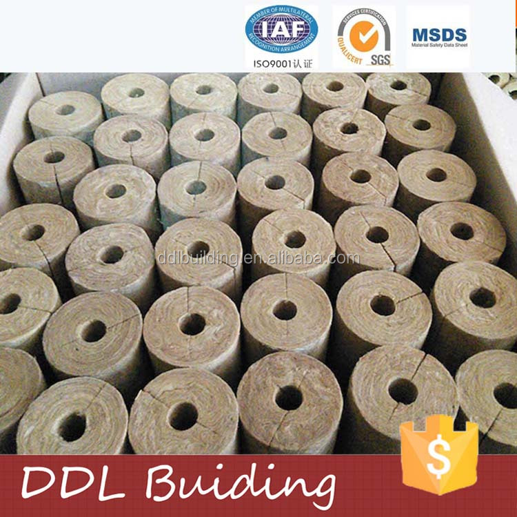 Fireproofing rock wool pipe for industrial thermal insulation