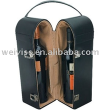 classic black faux leather wine bag tote wine case for promotion gifts