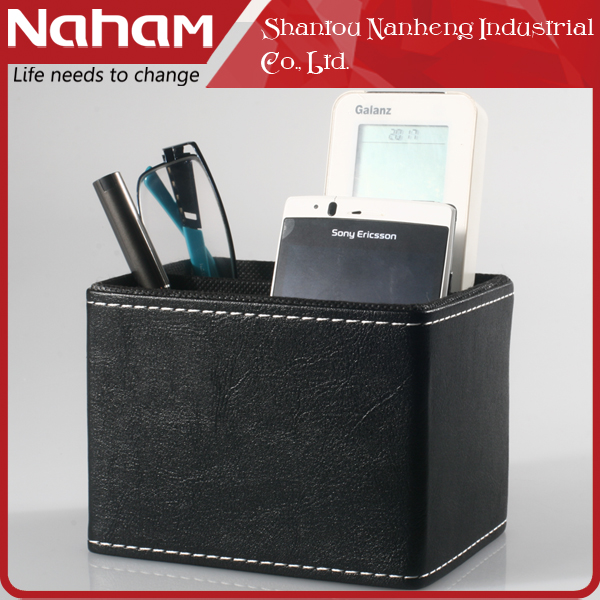NAHAM personalized handmade leather custom logo pen pencil holder