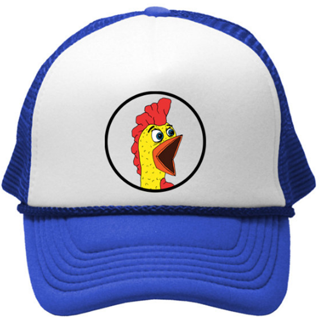 SCREAMING RUBBER CHICKEN Trucker cap hat osfa one size fits all retro vintage