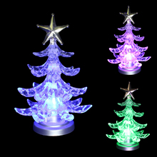 Promotion USB LED Small Clear Acrylic Christmas Tree