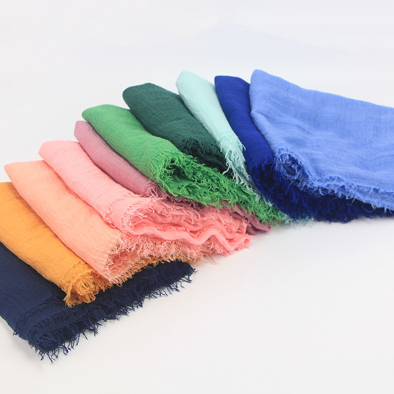 85 Colors soft Women Crinkle Hijab Muslim Crinkle Scarf For Female