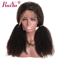 cheap curly lace front half human hair wig with baby hair