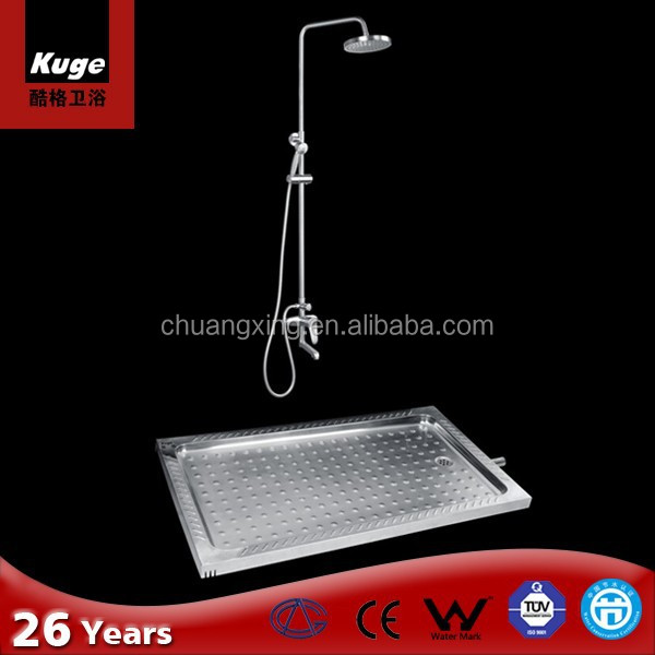 Stainless steel P trap shower basin manufacturer