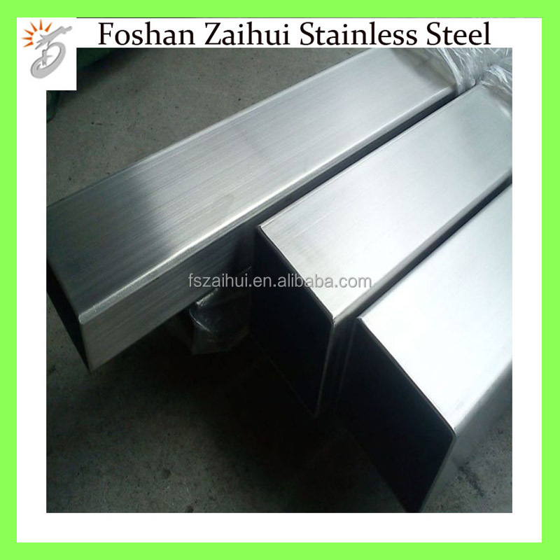 Erw Hairline Surface 304 Stainless Steel Pipe Resistance Welding Square Tube