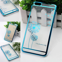 2017 Alibaba New Product Shinning Taraxacum Diamond Plating Phone Case Cover for Phone Accessories Mobile Case