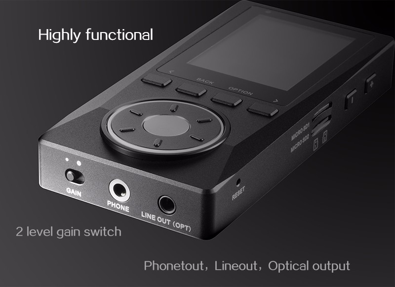 2016 Newest XDUOO X10 Portable High Resolution Lossless DSD Music Player DAP Support Optical Output