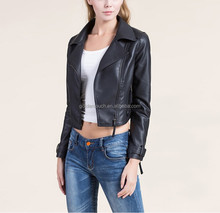 Cheap woman leather jacket direct from china