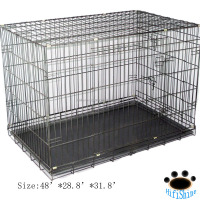 2016 iron oxygen aluminum folding large stainless steel dog cage