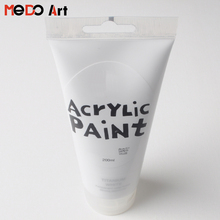 200ml Plastic Tube White Color Acrylic Paint
