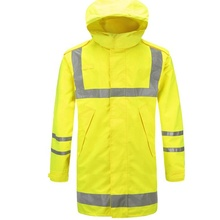 cheap wholesale reflective fluorescent raincoat yellow <strong>safety</strong> in China
